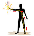 person being electrocuted and energy in your body vector image vector image