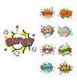 pop art comic speech bubble boom effects vector image vector image
