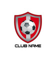 red football emblem vector image vector image