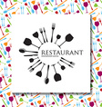 restaurant identity vector image vector image