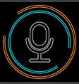 retro microphone icon - sound music vector image