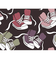 Seamless pattern with sneakers vector image