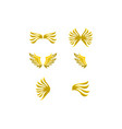 set of wing logo template icon design vector image vector image