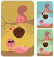 Squirrel Love Couple Valentines Gift vector image vector image