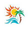 Summer travel vacation logo vector image vector image