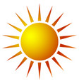sun clip-art with warm orange gradient sun icon vector image vector image