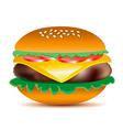Tasty Cheeseburger vector image