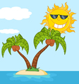 Tropical sun cartoon vector image vector image