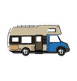truck camper home travel transport image vector image vector image