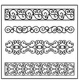 vintage ornaments set of borders collection of vector image vector image