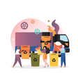 waste sorting concept for web banner vector image vector image
