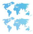 blue wavy world map vector image