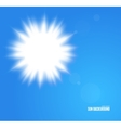 Sun with lens flare background vector image