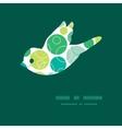 abstract green circles bird silhouette vector image vector image