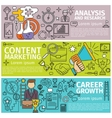 analysis marketing career vector image vector image