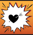 arrow heart sign comics style icon on pop vector image vector image