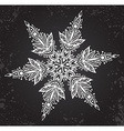Beautiful hand drawn ornamental doodle snowflake vector image vector image