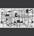 beijing china city map in black and white color vector image vector image