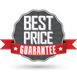 Best price guarantee retro label with red ribbon vector image vector image