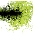 black and green background vector image vector image