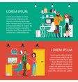 Business characters scene Teamwork in modern vector image