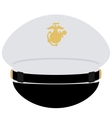Cap officer of the US Navy vector image vector image