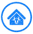 cattle farm rounded grainy icon vector image vector image