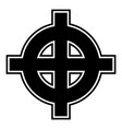 celtic cross white superiority icon black color vector image vector image