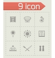 Chef icon set vector image vector image