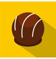 Chocolate candy icon flat style vector image vector image