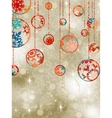 Christmas baubles on elegant background EPS 8 vector image vector image