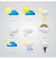 collection of different color weather icons vector image