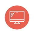 Computer monitor thin line icon vector image