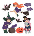 costumes halloween set vector image