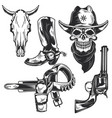 cowboy elements for creating your own badges vector image vector image