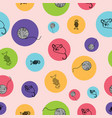 cute hand drawn pattern background with kittens vector image vector image