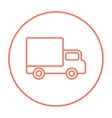 Delivery van line icon vector image