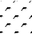 dolphin icon in black style isolated on white vector image vector image