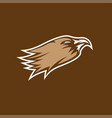 eagle head sport mascot design template vector image vector image