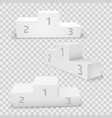 empty white rectangular winner podium set vector image vector image
