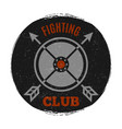 fighting club label with vintage grunge effect vector image