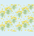 floral narcissus retro vintage background vector image vector image