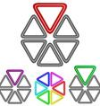 Geometric Triangular Logo Set vector image vector image