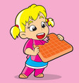girl with cookies vector image vector image