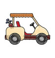 golf caddy vehicle vector image
