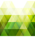 green triangle modern geometric background vector image vector image