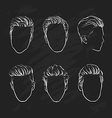 hand drawn hipster fashion man hair vector image vector image