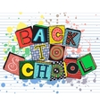 Hand drawn phrase back to school in doodle fansy vector image