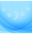 Hanging Moon and Stars vector image