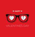 happy valentines day black hipster glasses with a vector image vector image